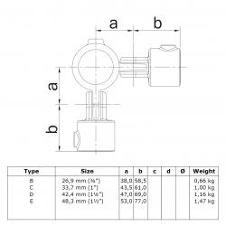 Articulation 3 tubes à 90 degrés