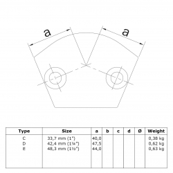 Coude d'angle variable
