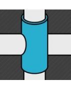 Raccord noir de croisement pour fixer des tubes perpendiculaires