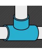 Raccord noir de type té permettant la jonction perpendiculaire de deux tubes